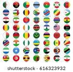 set of flags of all african... | Shutterstock .eps vector #616323932