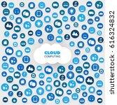 cloud computing design concept... | Shutterstock .eps vector #616324832