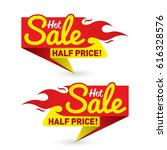 hot sale price offer deal... | Shutterstock .eps vector #616328576