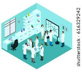 isometric biological science... | Shutterstock .eps vector #616329242
