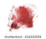 bloody fingerprint on a white...   Shutterstock . vector #616332056