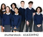 group of diverse students... | Shutterstock . vector #616334942