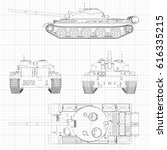 tank vector illustration eps 10.... | Shutterstock .eps vector #616335215