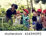teacher and kids school... | Shutterstock . vector #616344392