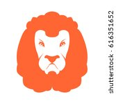 lion sign logo. leo emblem icon.... | Shutterstock .eps vector #616351652