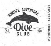 dive club summer adventure.... | Shutterstock .eps vector #616373696