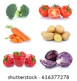 vegetables carrots tomatoes... | Shutterstock . vector #616377278