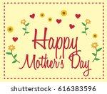 happy mother s day  | Shutterstock .eps vector #616383596