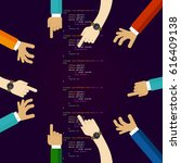 open source software coding... | Shutterstock .eps vector #616409138