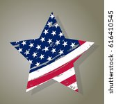 usa star in vintage style ... | Shutterstock .eps vector #616410545
