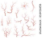 human red eye veins set ...