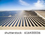 solar power station in the... | Shutterstock . vector #616430036