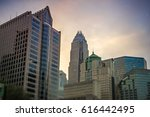 dusk and dawn over charlotte... | Shutterstock . vector #616442495