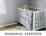 baby and the crib | Shutterstock . vector #616443326