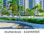 outdoor garden on rooftop of... | Shutterstock . vector #616444505