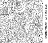 tracery seamless pattern.... | Shutterstock .eps vector #616451168