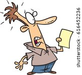 cartoon man shocked by news | Shutterstock .eps vector #616452236