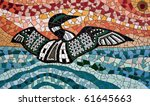 Mosaic Made From Tiles Showing...