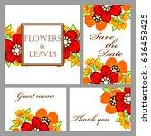 romantic invitation. wedding ...   Shutterstock .eps vector #616458425