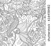 tracery seamless pattern.... | Shutterstock .eps vector #616458482