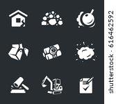 set of demolition icons.   Shutterstock . vector #616462592