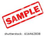 sample stamp on white... | Shutterstock . vector #616462838