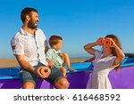 happy funny family   father ... | Shutterstock . vector #616468592