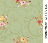 seamless floral pattern with... | Shutterstock .eps vector #616477166