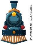 train design on white... | Shutterstock .eps vector #616486088
