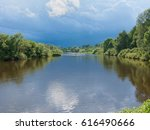 view on zhizdra river valley in ...   Shutterstock . vector #616490666