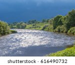 view on zhizdra river valley in ...   Shutterstock . vector #616490732