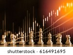 chess game on chess board... | Shutterstock . vector #616491695