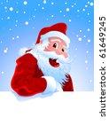 happy santa claus over white... | Shutterstock .eps vector #61649245