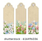 set of decorative tags or... | Shutterstock .eps vector #616496336