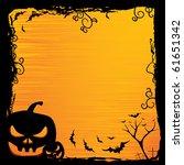 halloween background with... | Shutterstock .eps vector #61651342