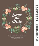 save the date invitation card | Shutterstock .eps vector #616516916