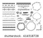 set of different decorative...   Shutterstock .eps vector #616518728