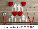 red heart  stethoscope and... | Shutterstock . vector #616532186