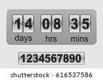 countdown timer. vector flip... | Shutterstock .eps vector #616537586