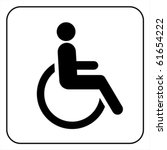 disabled wheelchair icon.... | Shutterstock .eps vector #61654222