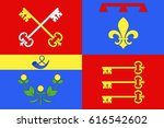 flag of vaucluse is a... | Shutterstock . vector #616542602