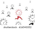 alarm legs runs appointment   Shutterstock .eps vector #616543352