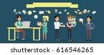 busines people character. flat... | Shutterstock . vector #616546265