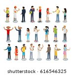 set of people buying and... | Shutterstock . vector #616546325