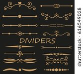 collection of handdrawn... | Shutterstock .eps vector #616549028