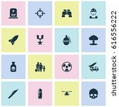 combat icons set. collection of ... | Shutterstock .eps vector #616556222