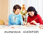 adult woman with special needs... | Shutterstock . vector #616569185