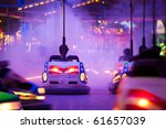 bumper cars  people driving... | Shutterstock . vector #61657039