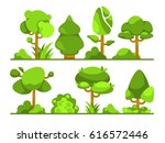 set of different trees type | Shutterstock .eps vector #616572446