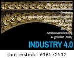 industry 4.0 concept thailand... | Shutterstock . vector #616572512